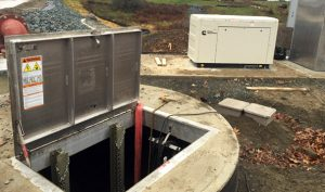 Sewage Lift Station with Generator