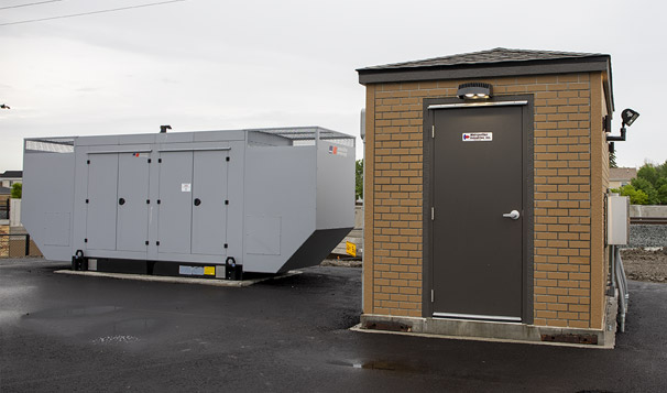 Lift Station Prefabricated Control House in Munster, Ind.
